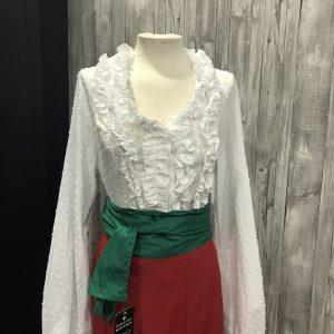 Camisa flamenca bombacha en plumeti.