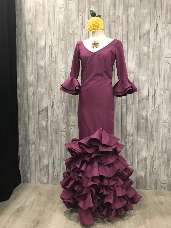 Traje flamenca color bogambilla