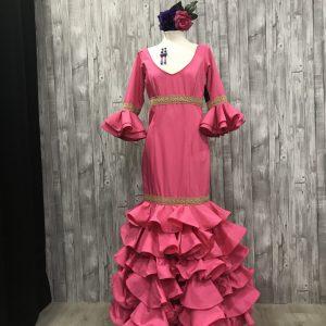 Traje de flamenca fucsia