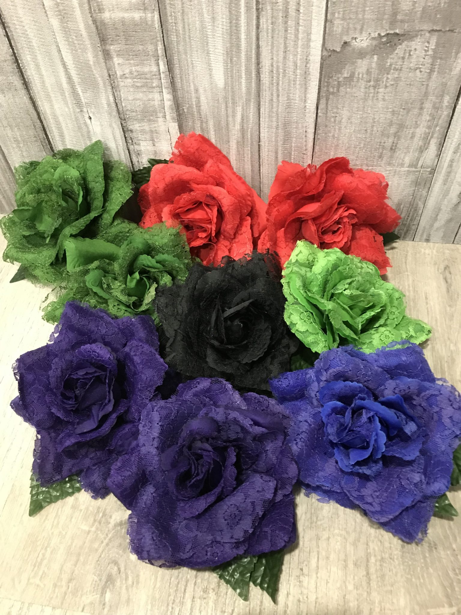 Flor flamenca con encaje 241