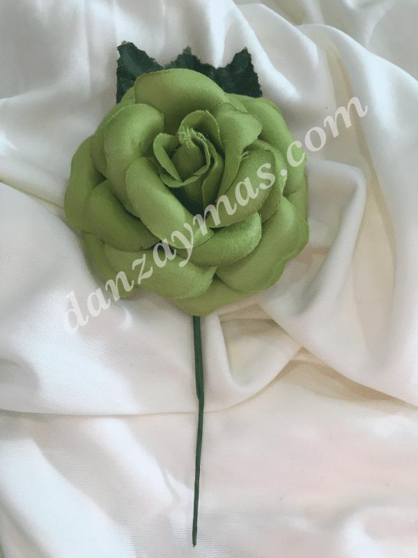 Flor flamenca pequeña fabricada en tela