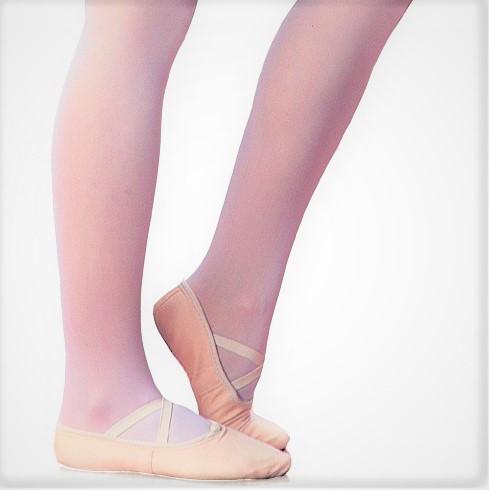 Medias de danza Berkshire en rosa y tostado