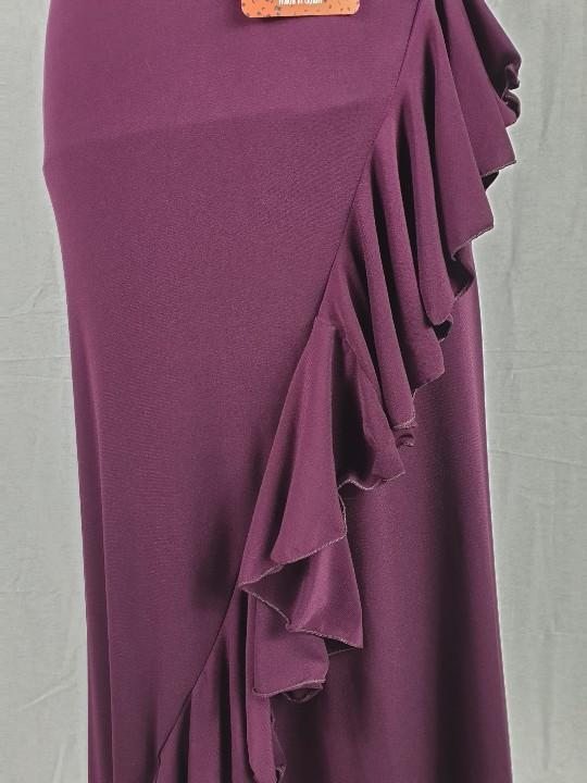 Falda de ensayo flamenco Davedans Valoria de corte recto con cinturilla ancha