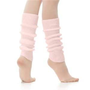 Calentador entero ballet en color rosa para colocar en tus piernas