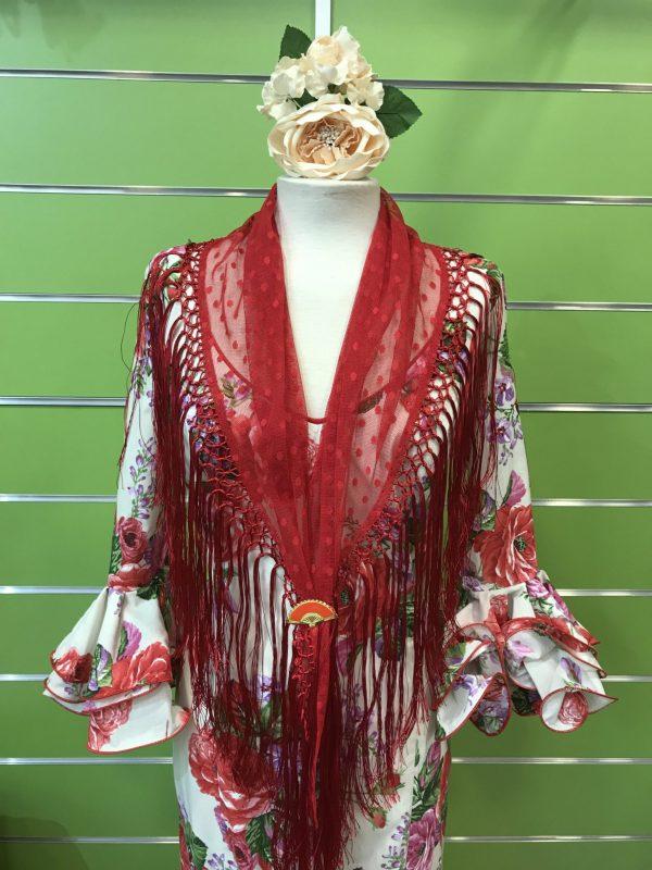 Mantoncillo flamenco adulta en tejido plumeti.