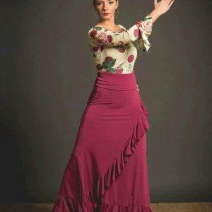 Falda de ensayo flamenco Davedans Valória.