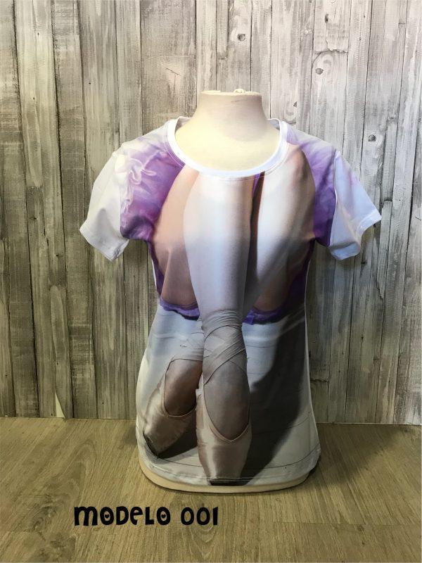 Camisetas estampadas de ballet.