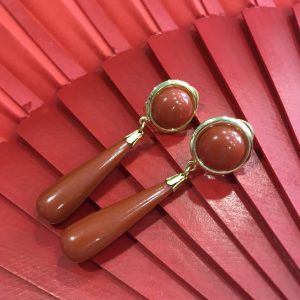 Pendientes de flamenca calabaza