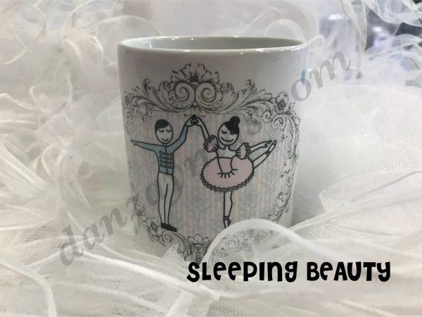 Tazón para desayuno ballet con motivos de danza fabricado en porcelana