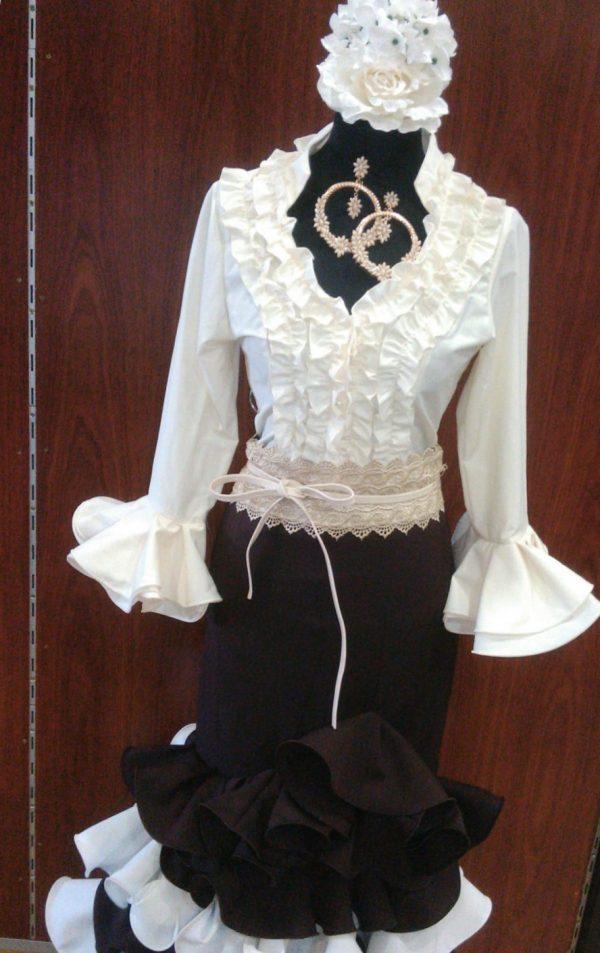 Camisa flamenca con manga