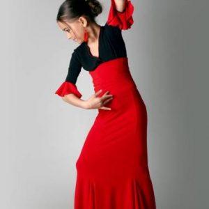 Esta falda flamenca ensayo corte sirena es preciosa
