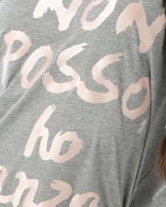 Camisetas baile moderno con logo de Non Posso Ho Danza