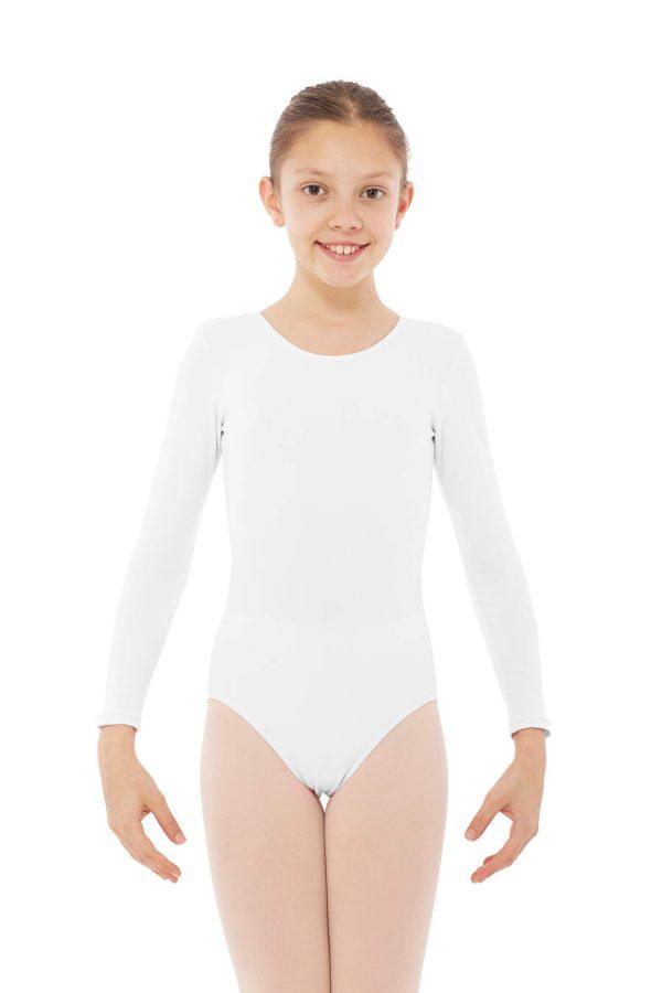 Maillot de baile manga larga blanco