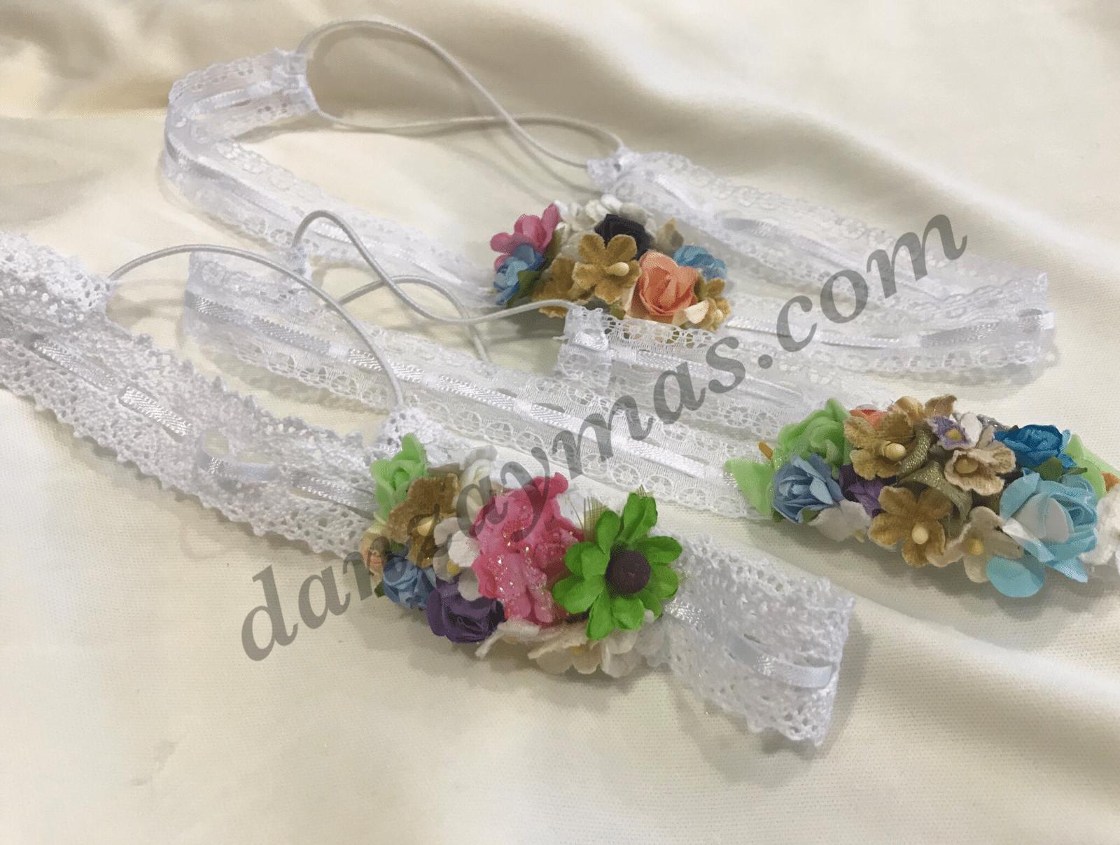 Diadema con flores para bebe 174