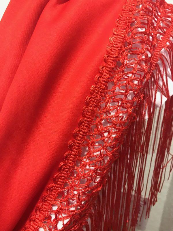 Mantón pico de flamenca en colores de importación