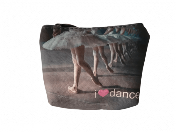 Monedero ballet con figuras estampadas
