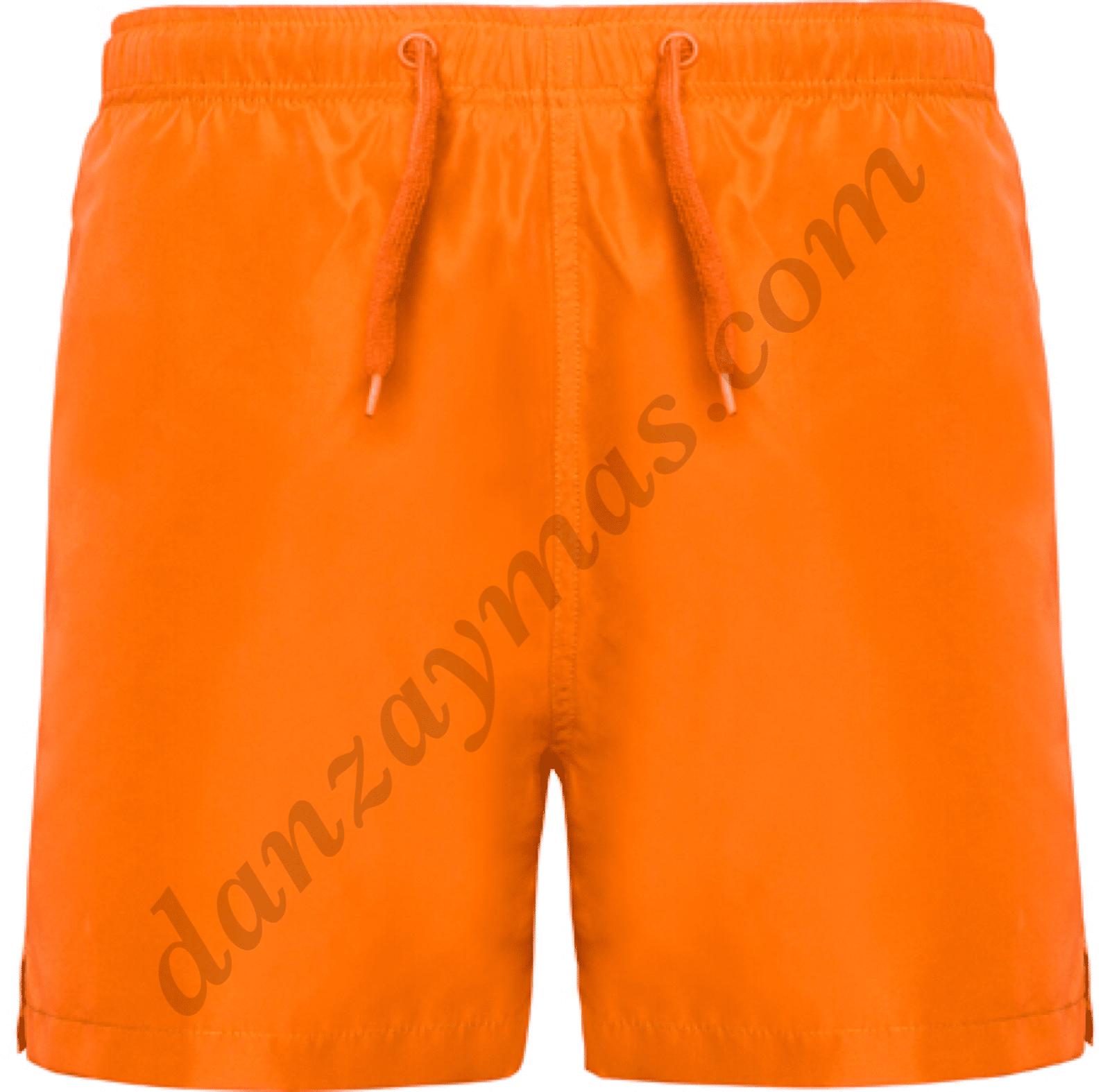 Bañador niño en naranja flúor