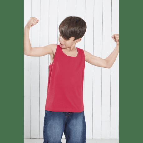 Camiseta de algodón para niño con tirante ancho y escote redondo, un complemento para hacer deporte en cualquier ocasión