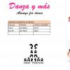 talla camiseta sansha Je Dance
