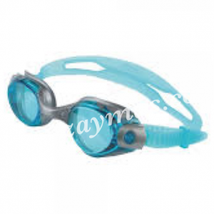 Gafas natación para adulto de silicona con lentes moldeadas para mejorar la hidrodinamica , con marco flexible y banda doble trasera