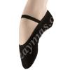 Zapatillas de ballet negras Van Allen en piel o tela