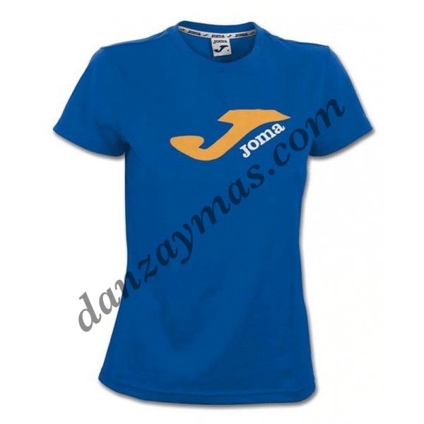 Camisetas de deporte mujer en algodón Joma con logotipo para utilizar en cualquier ocasión tanto deportiva como de ocio
