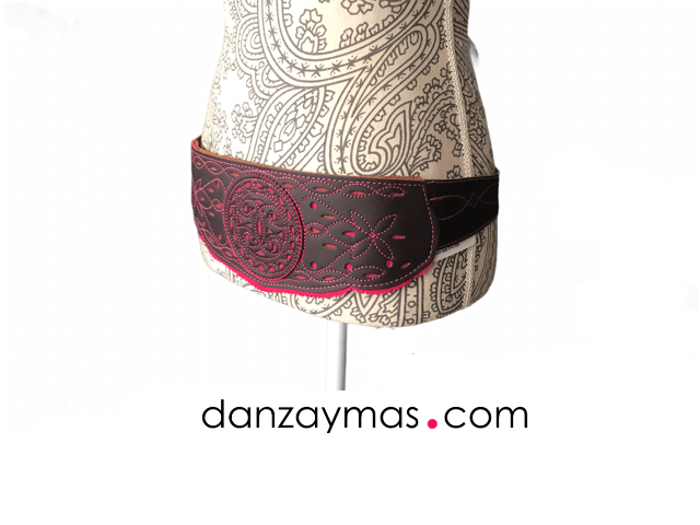 Fajín flamenco cuero marrón 1267