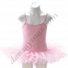 Maillot ballet con tutu en color fucsia de tirante fino y falda cosida