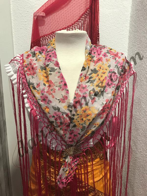 Mantoncillo flores de flamenca