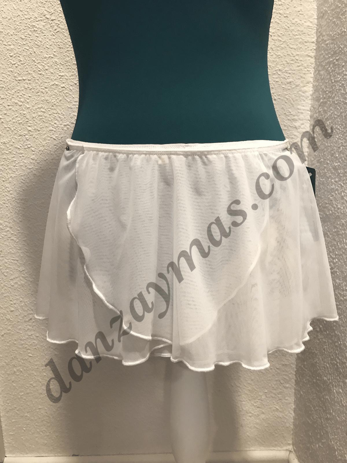 Falda clásico ballet blanca niña 1183