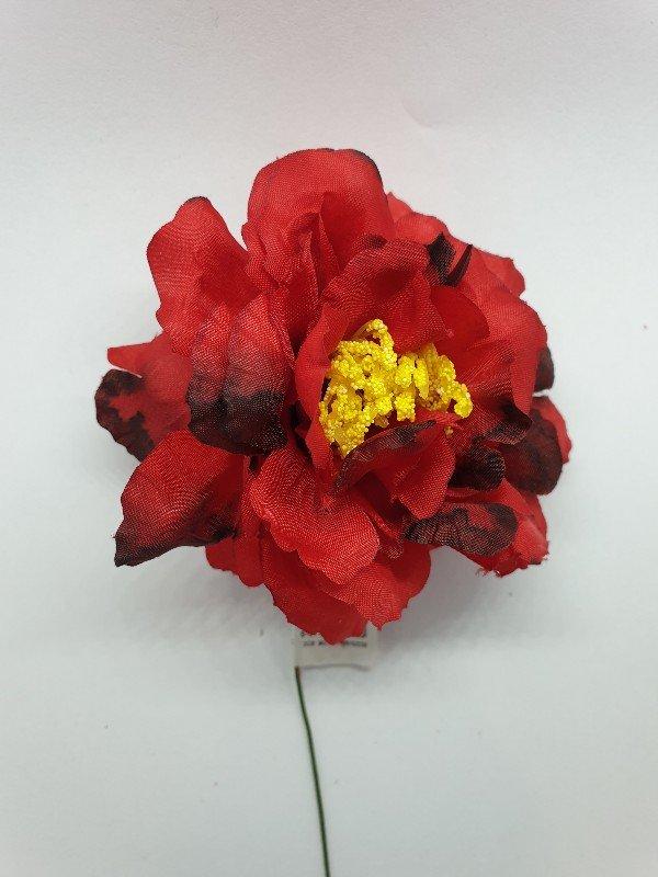 Flores de flamenca para el pelo con pistilos un complemento ideal para tus trajes de flamenca