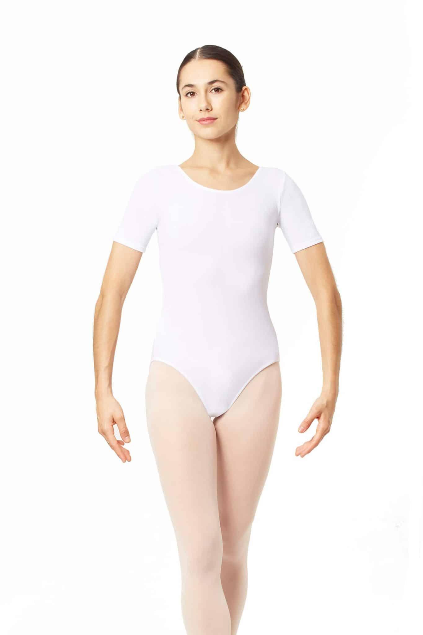 Maillot de ballet blanco manga corta 3005 BL