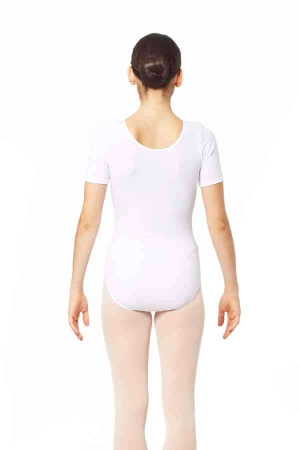 Maillot de ballet blanco manga corta de la marca Intermezzo