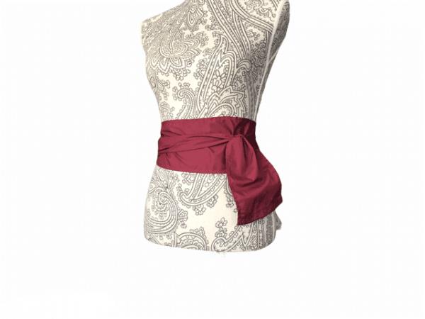 Fajín flamenco largo en tejido en colores lisos