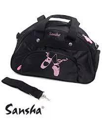 Bolsa de ballet infantil 💙con diseños de danza en negro y zapatillas de ballet. Con apartados para llevar todos los accesorios de danza que necesitas.