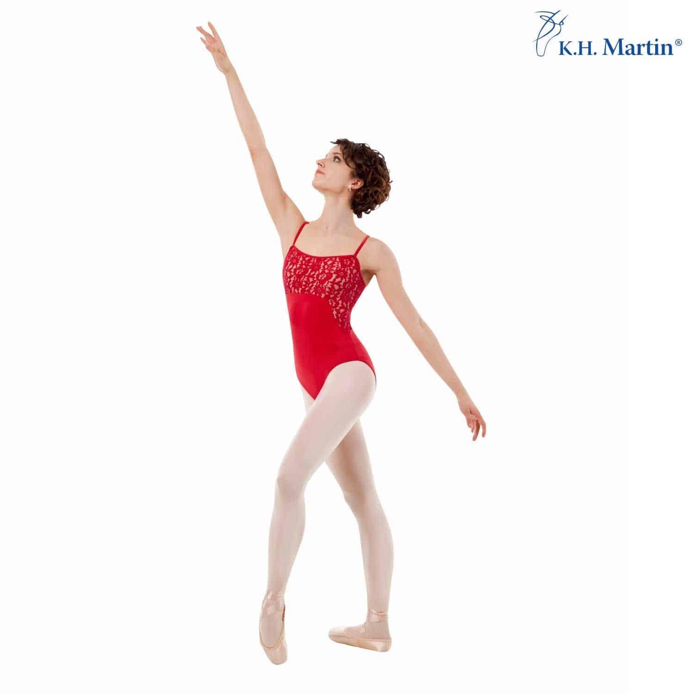 Maillot danza mujer Sansha color rubí