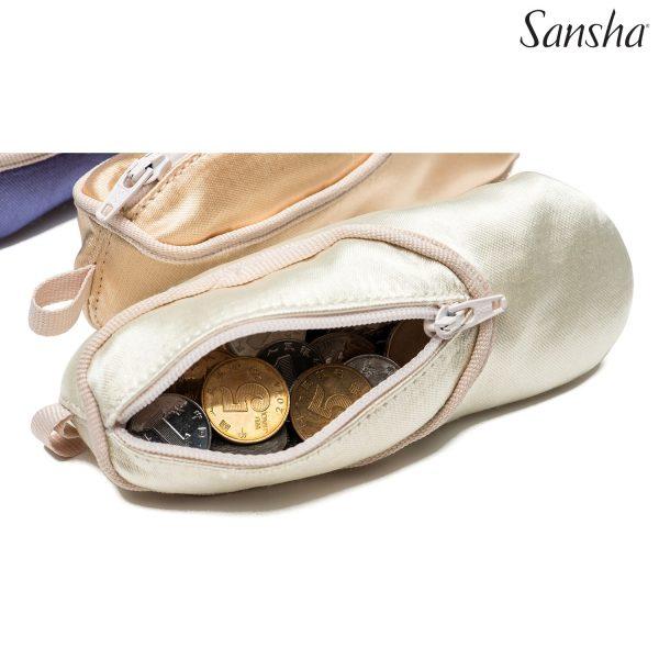 Monedero zapatillas de ballet con cremalleta para llevar tus monedas