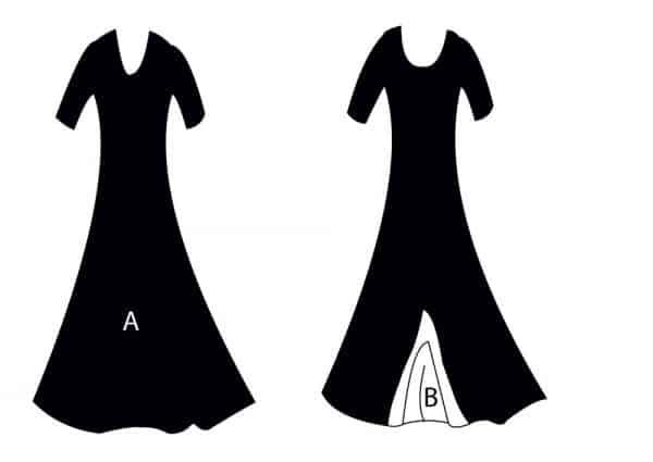 Vestido de ensayo flamenco