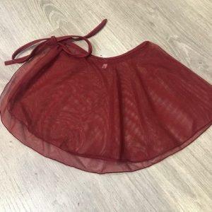 Falda de ballet gasa elástica atada a la cintura con lazada