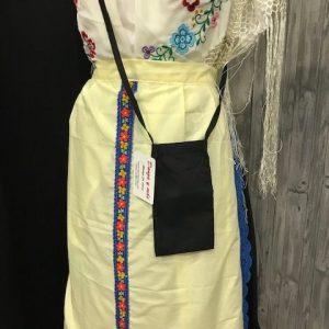 Bolso huertana o huertano en color negro para llevar lo necesario en el Bando de la Huerta