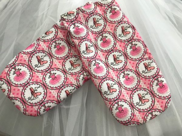 Fundas zapatillas de ballet con bonitos dibujos de zapatillas y tutus