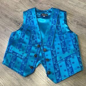 Chaleco huertano azul con rayas preciosos!!!!