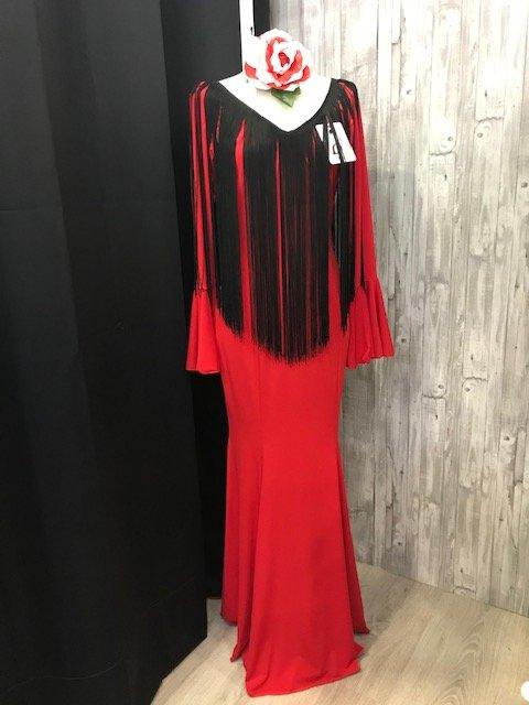 Vestido flamenca punto elástico estampado o liso muy cómodo y bonito