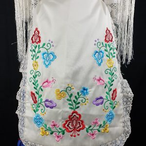 Delantal y pico bordado a juego de señora para el traje de huertana