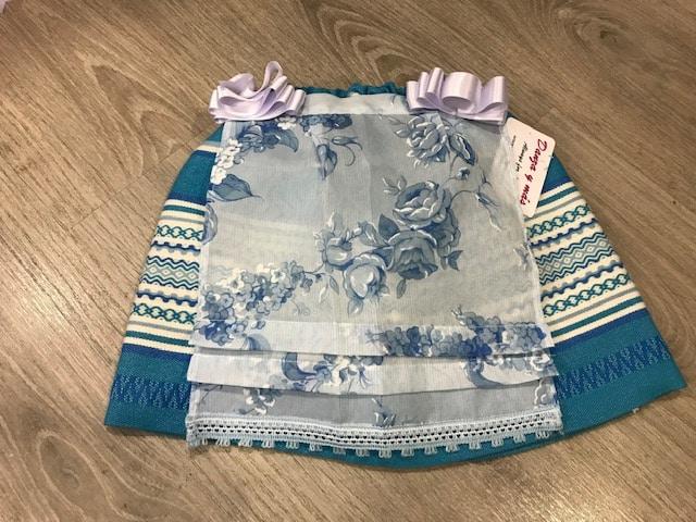 Delantal huertana azul niña o bebe 152