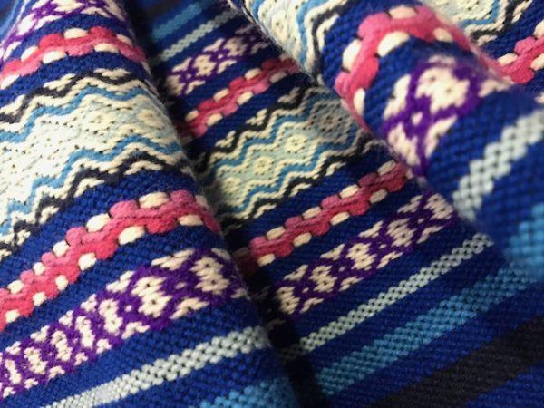 Refajo listas rodado niña en color azulón combinado con rosas