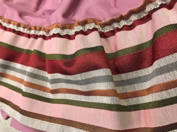 Refajo zagalejo niña en color rosa y volante de colores para combinar con cualquier delantal de huertana o pico