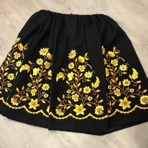 Refajo de huertana negro y amarillo de señora con preciosos bordados