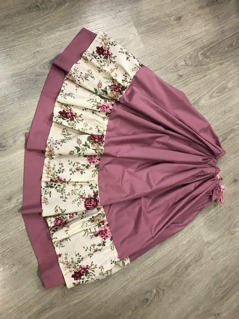 Zagalejo señora en color rosa y volante de flores muy ligero para el Bando de la Huerta