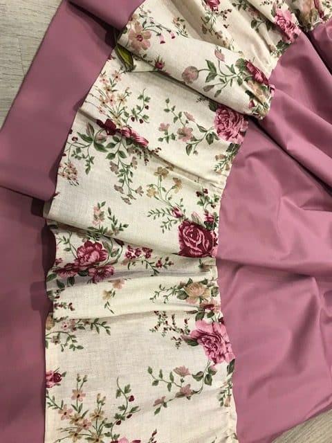 Refajo zagalejo señora en color rosa y volante de flores muy ligero para el Bando de la Huerta